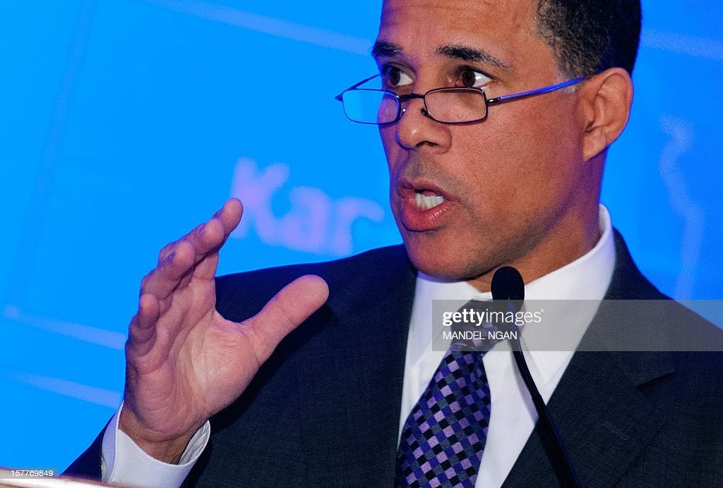 Maryland Lieutenant Governor Anthony G. Brown speaks on December 6, 2012 during the opening plenary breakfast of the 36th Annual Legislative Conference of The National Black Caucus of State Legislators (NBCSL) at a hotel in Washington, DC. AFP PHOTO/Mandel NGAN