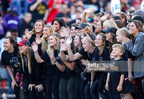 Maryland Terrapins championship women's lacrosse team honored during a college football game between the Maryland Terrapins and the Northwestern...