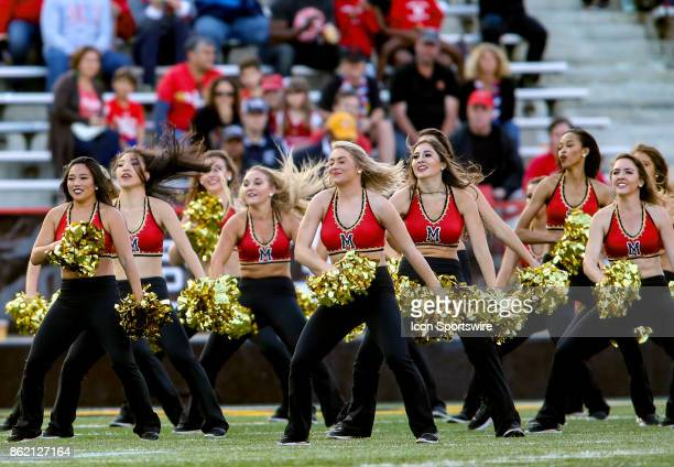 Maryland Terrapins dance team entertains during a college football game between the Maryland Terrapins and the Northwestern Wildcats on October 14 at...