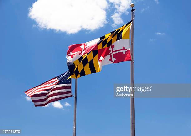 Maryland, USA Flags