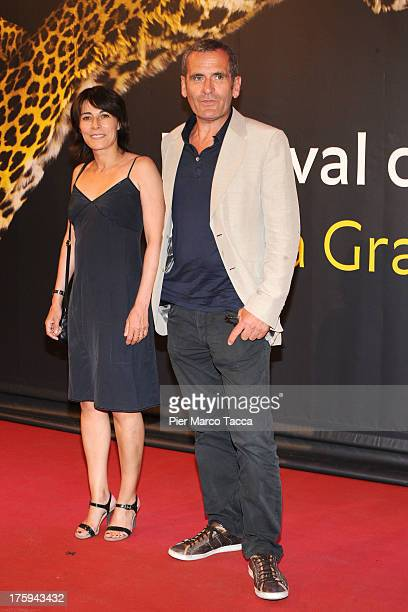 Maryline Canto and Antoine Chappey attend a photocall during the 66th Locarno Film Festival on August 10 2013 in Locarno Switzerland