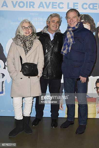 Maryline Leymergie Michel Boujenah and William Leymergie attend the 'Le Coeur En Braille' Paris Premiere at Cinema Gaumont Marignan on December 4...