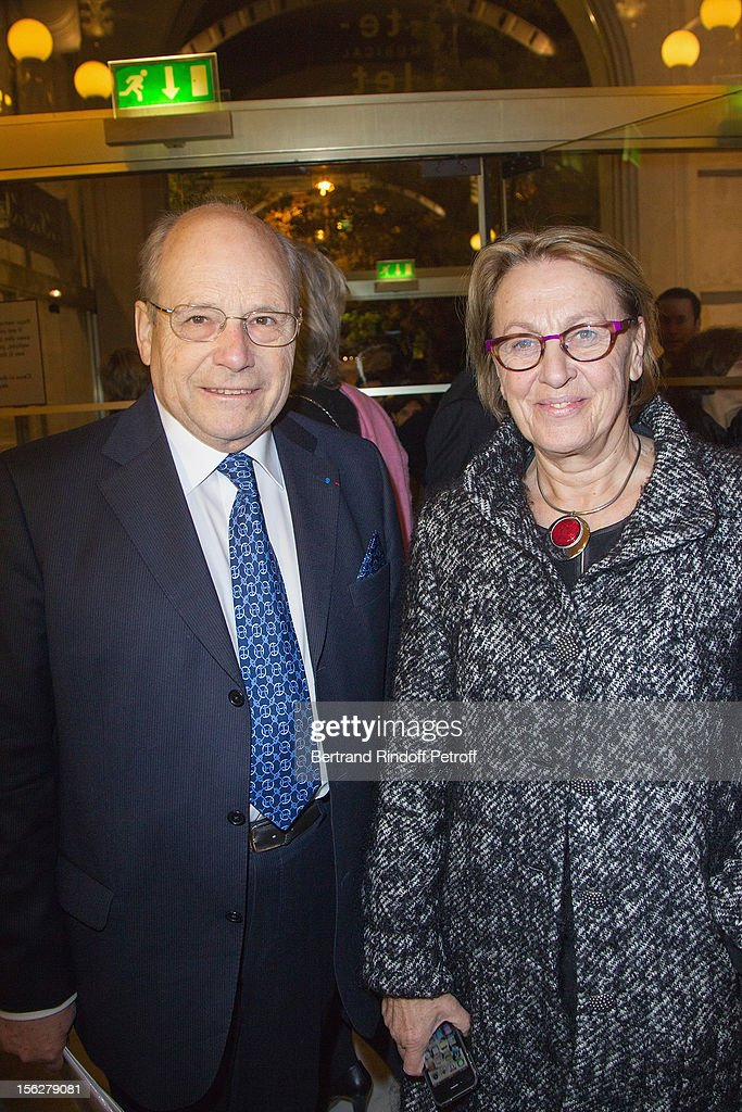 Marylise Lebranchu, Minister of State Reform, Decentralization and Public Service, and Guy Berger, President of the Paris Committee of the French League Against Cancer, attend the Gala de l'Espoir charity event against cancer at Theatre du Chatelet on November 12, 2012 in Paris, France.
