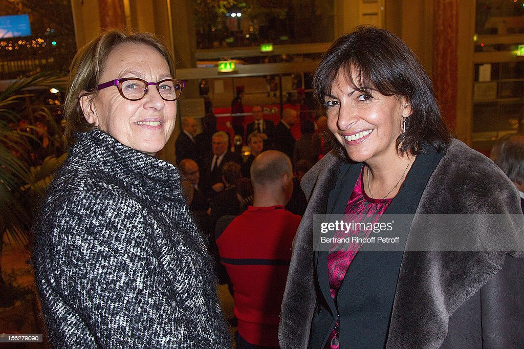 Marylise Lebranchu, Minister of State Reform, Decentralization and Public Service, and Paris Deputy Mayor Anne Hidalgo attend the Gala de l'Espoir charity event against cancer at Theatre du Chatelet on November 12, 2012 in Paris, France.