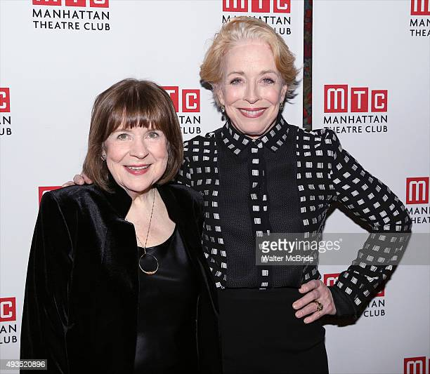 Marylouise Burke and Holland Taylor attend the Opening Night after party for the Manhattan Theatre Club production of Ripcord' at Brasserie 8 1/2 on...