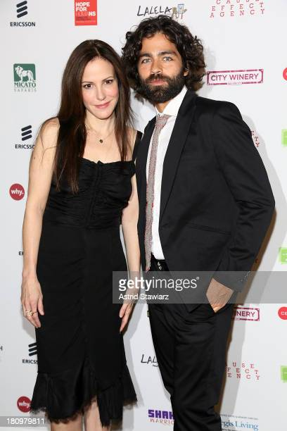 MaryLouise Parker and Adrian Grenier attend The Inaugural Hope North Gala at City Winery on September 18 2013 in New York City