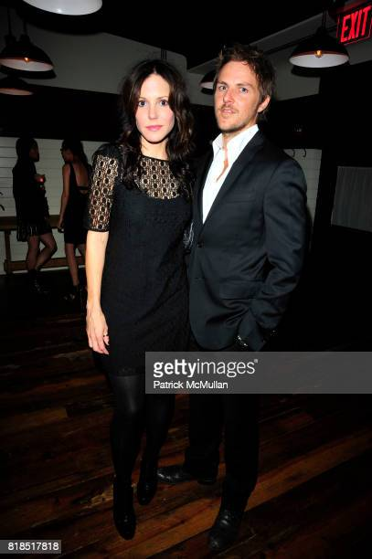 MaryLouise Parker and Charlie Mars attend The Target Kaleidoscopic Fashion Spectacular Lights up New York City at The Standard on August 18 2010 in...