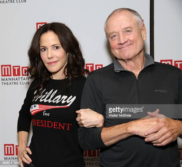 MaryLouise Parker and Denis Arndt attend the 'Heisenberg' Cast Photocall at the Manhattan Theater Club on August 31 2016 in New York City