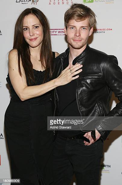 MaryLouise Parker and Hunter Parrish attend The Inaugural Hope North Gala at City Winery on September 18 2013 in New York City