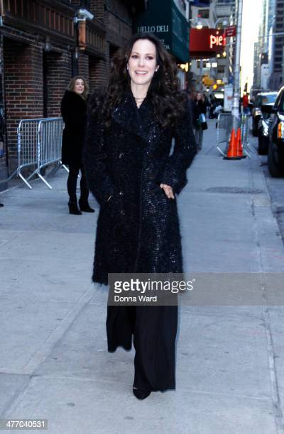 MaryLouise Parker arrives for the 'Late Show with David Letterman' at Ed Sullivan Theater on March 6 2014 in New York City