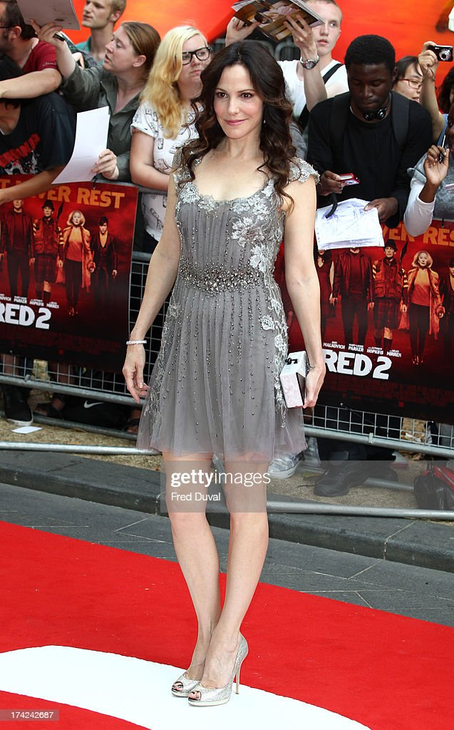 Mary-Louise Parker attends the European Premiere of Red 2 at Empire Leicester Square on July 22, 2013 in London, England.