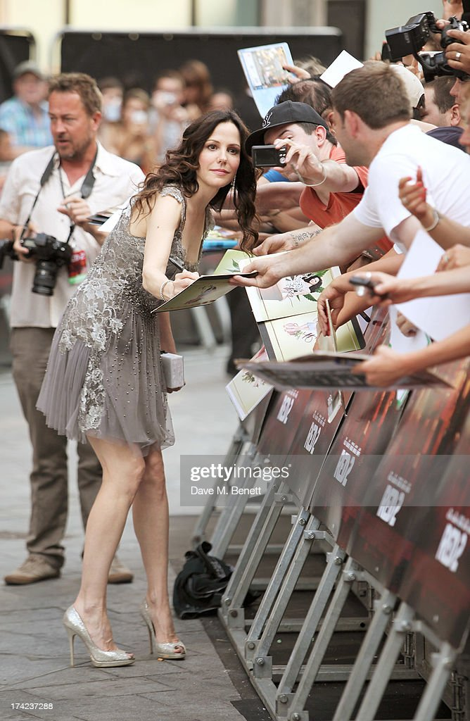 Mary-Louise Parker attends the European Premiere of 'Red 2' at the Empire Leicester Square on July 22, 2013 in London, England.