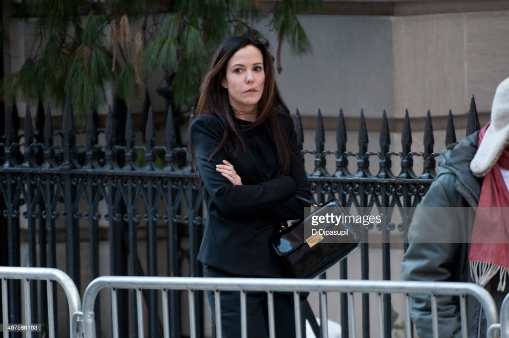 Mary louise parker attends the funeral service for actor philip