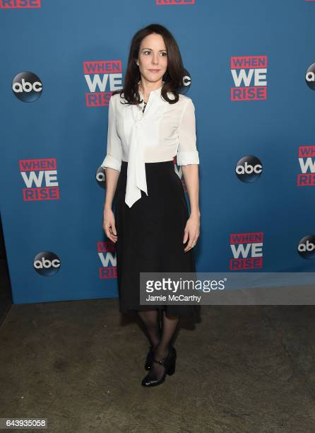 MaryLouise Parker attends the 'When We Rise' New York Screening Event at The Metrograph on February 22 2017 in New York City
