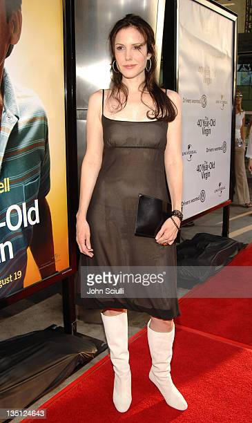 MaryLouise Parker during 'The 40YearOld Virgin' Los Angeles Premiere Red Carpet at Arclight Hollywood in Los Angeles California United States