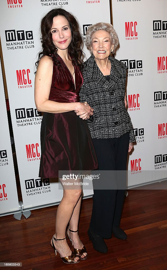 <a gi-track='captionPersonalityLinkClicked' href=/galleries/search?phrase=Mary-Louise+Parker&family=editorial&specificpeople=208766 ng-click='$event.stopPropagation()'>Mary-Louise Parker</a> with her 90 year old mother Caroline Louise Morell attends the Broadway Opening Night After Party for 'The Snow Geese'' at Copacabana on October 24, 2013 in New York City.
