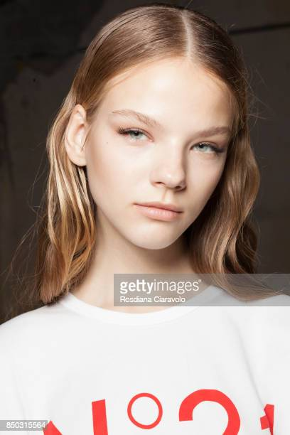 Maryna Horda is seen ahead of the N21 show during Milan Fashion Week Spring/Summer 2018 on September 20 2017 in Milan Italy