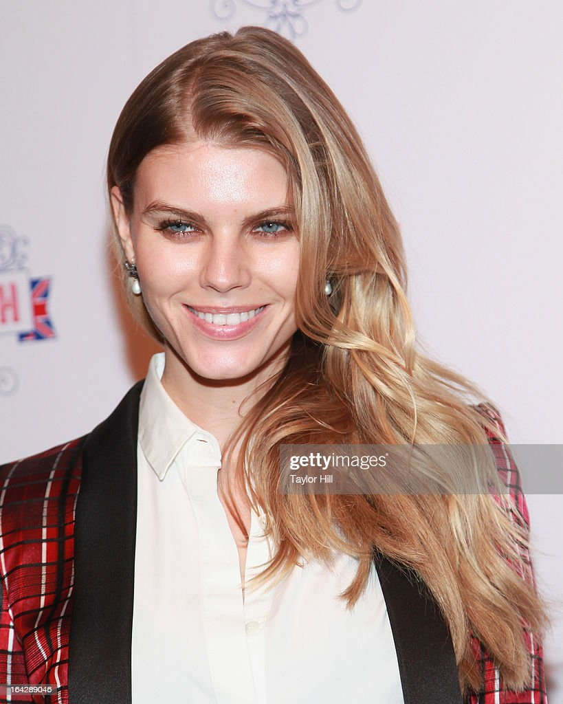Maryna Linchuk attends The Big British Invite launch at 78 Mercer Street on March 21, 2013 in New York City.