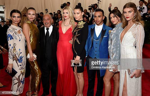 Maryna Linchuk Emily Ratajkowski Lily Donaldson Natasha Poly Bella Hadid and Hailey Baldwin attend the 'China Through The Looking Glass' Costume...