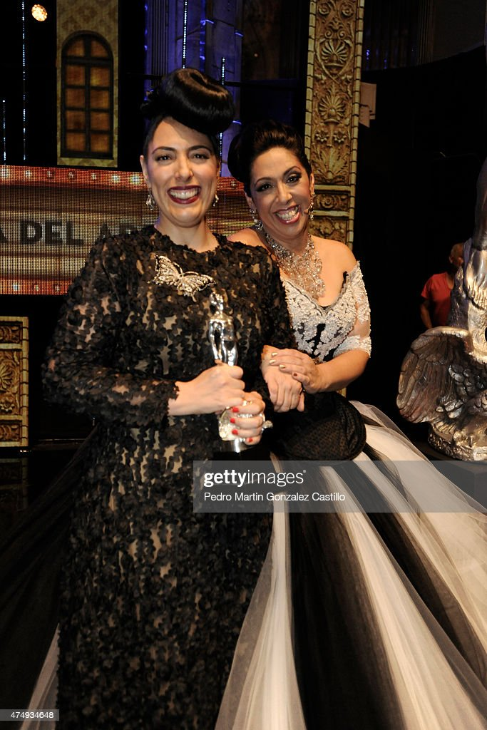 Marypaz Robles Regina Orozco winner for Best Makeup in the the 57th Ariel Awards Ceremony at Bellas Artes Palace on May 27 2015 in Mexico City Mexico