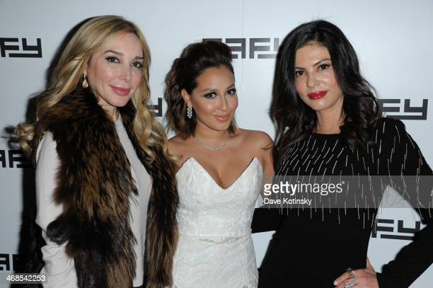 Marysol Patton Adrienne Bailon and RHOM Adriana DeMoura attends Effy Jewelry's 35th anniversary hosted by Adrienne Bailon on February 10 2014 in New...