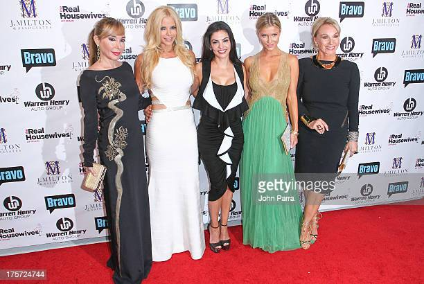 Marysol Patton Alexia Echevarria Adriana de Moura Joanna Krupa and Lea Black attend The Real Housewives of Miami Season 3 Premiere Party on August 6...
