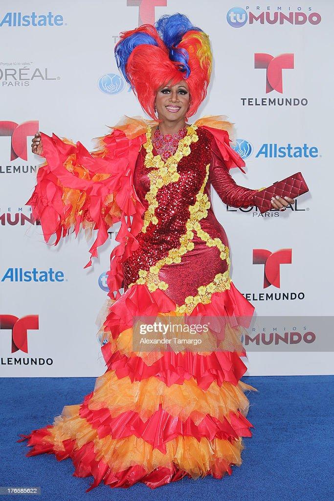 Marytrini attends Telemundo's Premios Tu Mundo Awards at American Airlines Arena on August 15, 2013 in Miami, Florida.