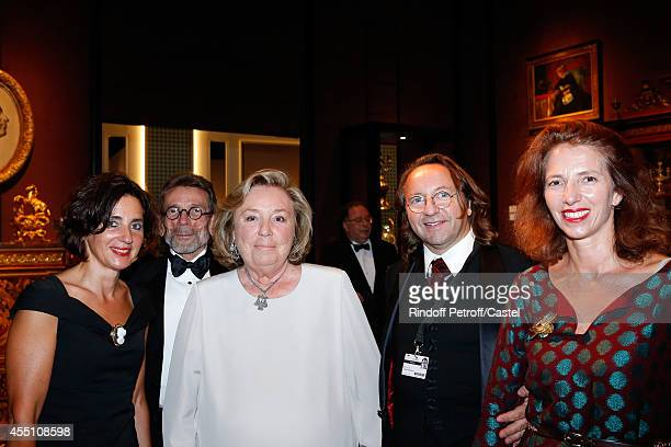 Maryvonne Pinault and Bill Pallot attend the 27th 'Biennale des Antiquaires' Pre Opening at Le Grand Palais on September 9 2014 in Paris France
