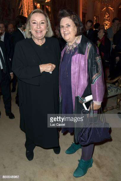 Maryvonne Pinault and Suzy Menkes attend the Opening Party at Yves Saint Laurent Museum as part of the Paris Fashion Week Womenswear Spring/Summer...