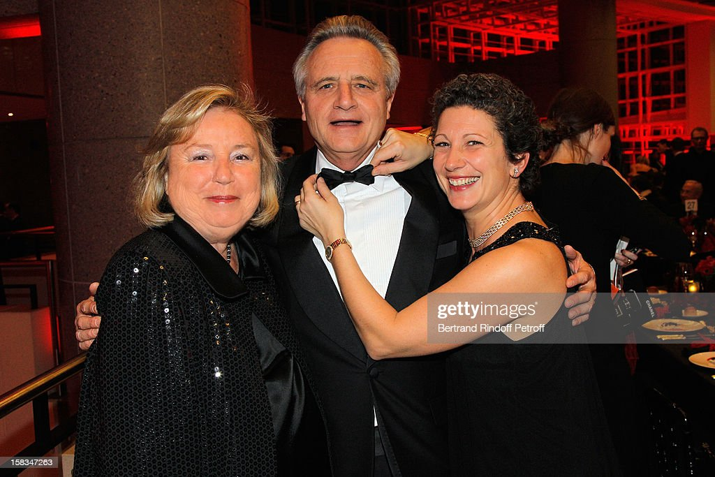 Maryvonne Pinault (Madame Francois Pinault), Philippe Villin and Laure Darcos attend the Arop Gala event for Carmen new production launch at Opera Bastille on December 13, 2012 in Paris, France.