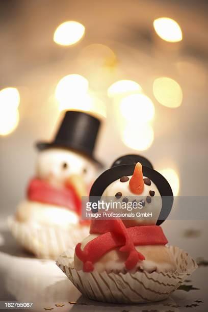 Marzipan snowman for Christmas