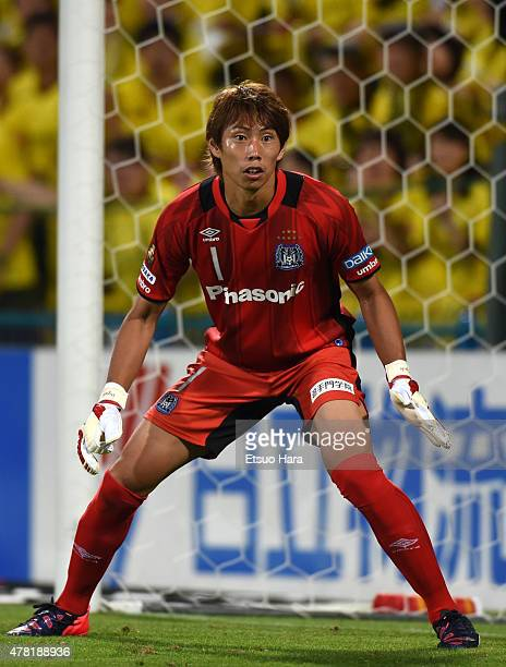 Masaaki Higashiguchi of Gamba Osaka in action during the JLeague match between Kashiwa Reysol and Gamba Osaka at Hitachi Kashiwa Soccer Stadium on...