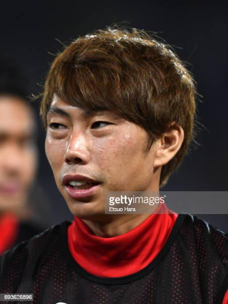 Masaaki Higashiguchi of Japan looks on after the international friendly match between Japan and Syria at Tokyo Stadium on June 7 2017 in Chofu Tokyo...