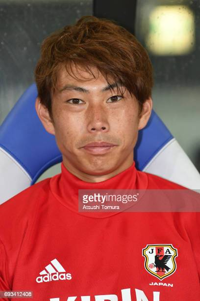 Masaaki Higashiguchi of Japan looks on during the international friendly match between Japan and Syria at Tokyo Stadium on June 7 2017 in Chofu Tokyo...