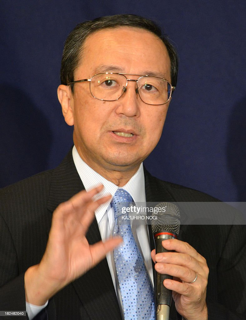Masaaki Kanno, chief economist of JP Morgan Securities Japan, speaks during a press conference at the Foreign Correspondents' Club of Japan in Tokyo on September 30, 2013. Masaaki Kanno and Hiromichi Shirakawa, Chief Economist of Credit Suisse Securities Japan, held the conference to discuss the implications of the tax-hike plan.