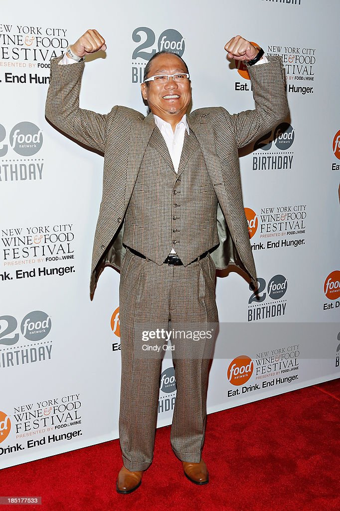 Masaharu Morimoto attends Food Networks 20th birthday celebration at Pier 92 on October 17, 2013 in New York City.