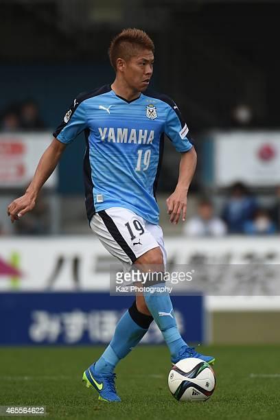 Masahiko Inoha of Jubilo Iwata holds the ball during the JLeague second division match between Jubilo Iwata and Giravanz Kitakyushu at Yamaha Stadium...