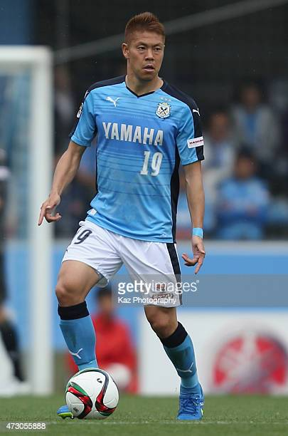 Masahiko Inoha of Jubilo Iwata in action during the JLeague second division match between Jubilo Iwata and Mito Hollyhock at Yamaha Stadium on May 9...