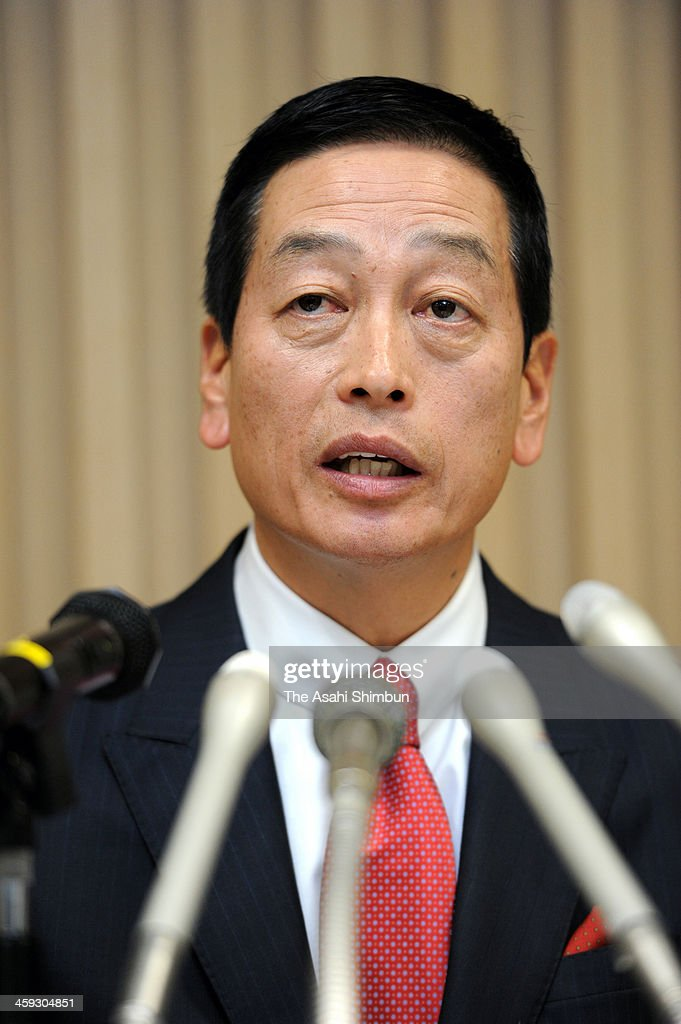 Masahiko Uotani, the former president of Coca-Cola (Japan) Co who will be Shiseido Co's new president from April, speaks during a press conference on December 24, 2013 in Tokyo, Japan. The appointment, announced on December 24, will take effect April 1. Shinzo Maeda, president and chairman of Shiseido, said the company tapped Uotani for his marketing savvy to improve its bottom line.