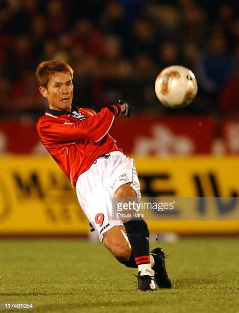 Masahiro Fukuda of Urawa Red Diamonds in action during the JLeague Divisioin 1 second stage match between Urawa Red Diamonds and Gamba Osaka at...