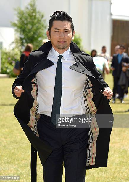 Masahiro Motoki attends the Burberry Prorsum show during The London Collections Men SS16 at on June 15 2015 in London England