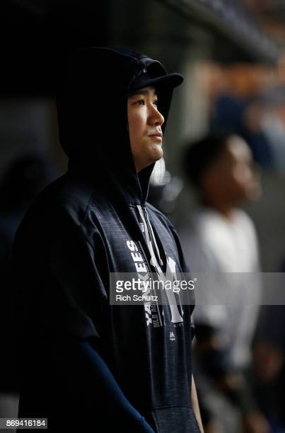 Masahiro Tanaka of the New York Yankees in action against the Boston Red Sox during a game at Yankee Stadium on September 3 2017 in the Bronx borough...