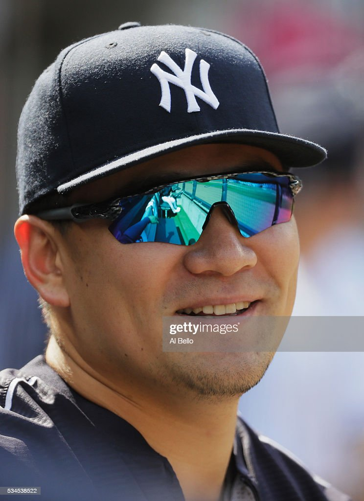 <a gi-track='captionPersonalityLinkClicked' href=/galleries/search?phrase=Masahiro+Tanaka&family=editorial&specificpeople=5492836 ng-click='$event.stopPropagation()'>Masahiro Tanaka</a> #19 of the New York Yankees looks on against the Toronto Blue Jays during their game at Yankee Stadium on May 26, 2016 in New York City.