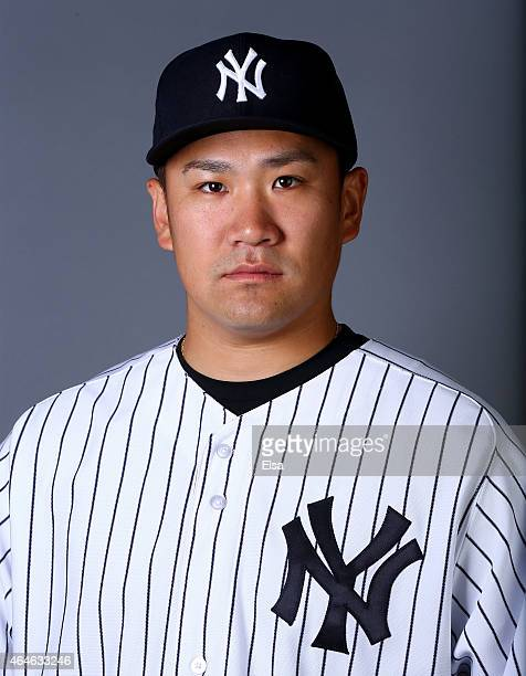 Masahiro Tanaka of the New York Yankees poses for a portrait on February 27 2015 at George M Steinbrenner Stadium in TampaFlorida