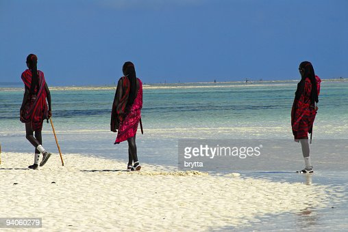 Masai on the beach