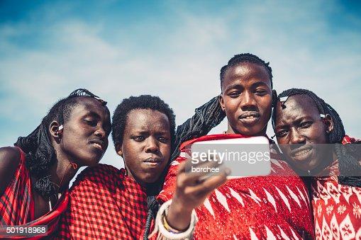 Masai Taking A Selfie