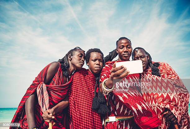 Masai Taking A Selfie