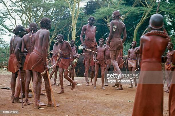 A Masai tribal dance in Kenya 1973