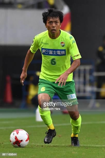 Masaki Yamamoto of JEF United Chiba in action during the JLeague J2 match between JEF United Chiba and Matsumoto Yamaga at Fukuda Denshi Arena on...