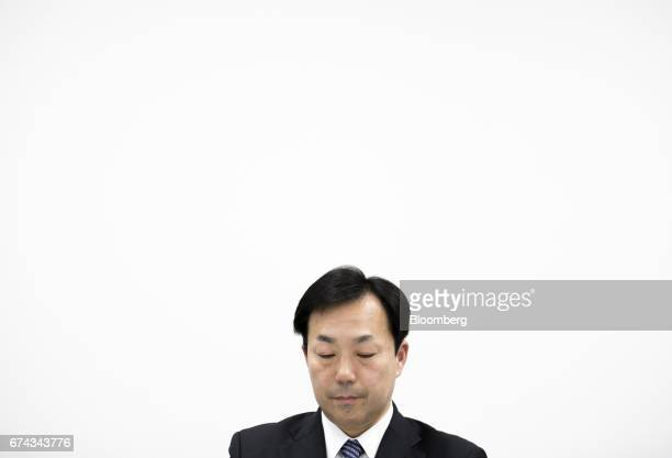 Masaki Yamauchi president of Yamato Holdings Co attends a news conference in Tokyo Japan on Friday April 28 2017 Yamato's shares gained the most in...
